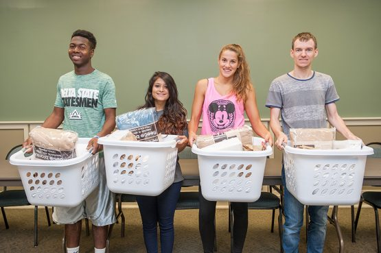 "Thanks to donations from the First Baptist Church College Ministry, Delta State's new international students were welcomed with ""Dorm Room Essentials"" kits."