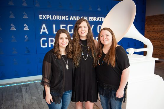 Jessica Faith Wishard (left to right), Kailey Mathis and Brittany McGee are the 2016-17 GRAMMY U officers.