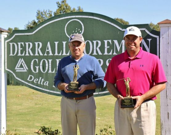 Winners of the third annual DSU B.E.E.P. Breast Cancer Awareness Golf Tournament were  Johnny (left) and James Glorioso.