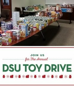 Annual holiday giving has begun at Delta State with the DSU Feed-A-Family and DSU Toy Drive.