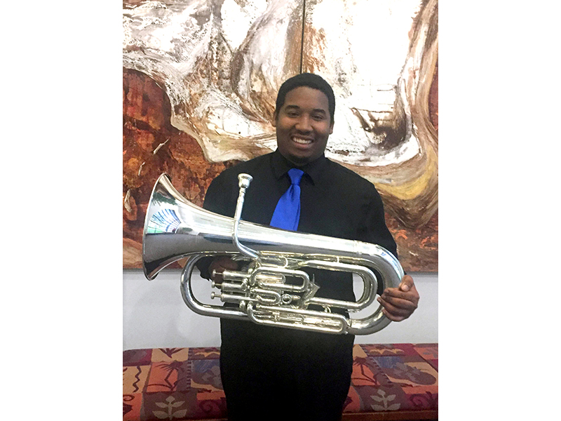 Music major Michael Sparks will compete in the Young Artist Performance Competition of the Music Teachers National Association in January 2017.