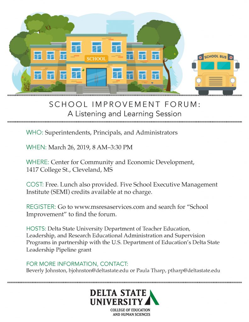 School-Improvement-Forum-Save-the-Date - News and Events