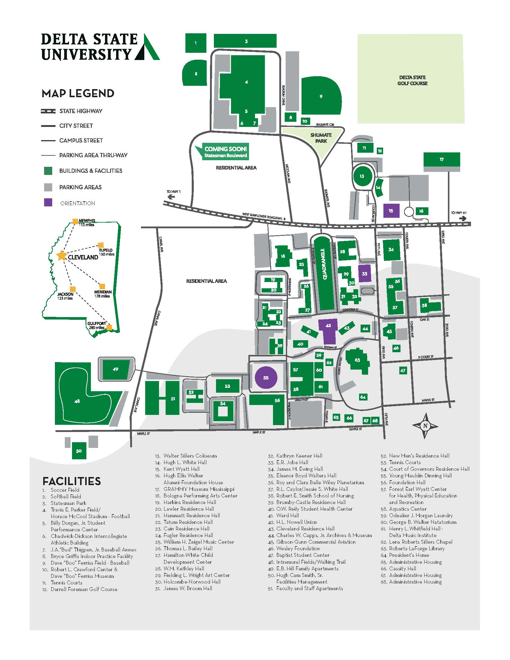 Orientation Campus Map - Student Affairs on