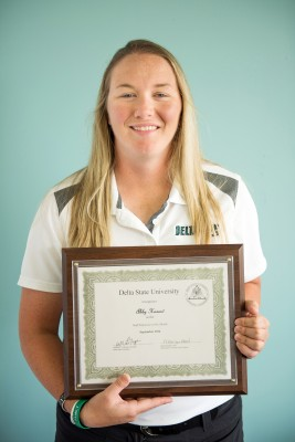Abby Havard, assistant athletic trainer, is Delta State's September 2014 Employee of the Month.