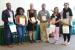 Panel participants included (left to right): Scottie Willis (Interdisciplinary Studies); Garyanna Simmons (Social Work); moderator Dr. Carolyn Casale; Rhahan Sarwar (CIS); Kelsa Powell (Social Work); and Hafsa Alharoon (MBA/Accounting). Photo by Kelly Kirkland.